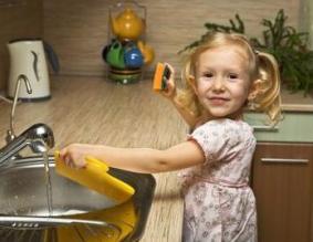 Copii si curatenia